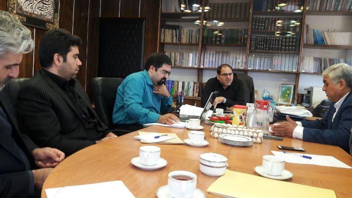 برگزاری جلسه مستند سازی در دفتر مدیر کل حقوقی شرکت مدیریت منابع آب